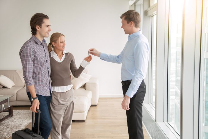 great property manager with tenants
